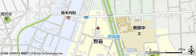 静岡県磐田市野箱周辺の地図