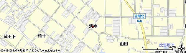 愛知県田原市吉胡町(清水)周辺の地図