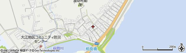 静岡県牧之原市大江周辺の地図