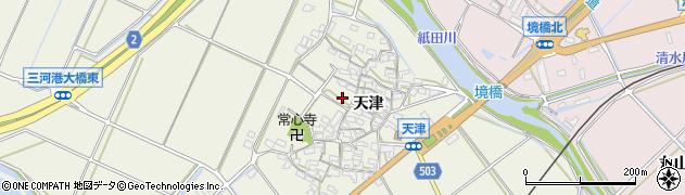 愛知県豊橋市杉山町(天津)周辺の地図
