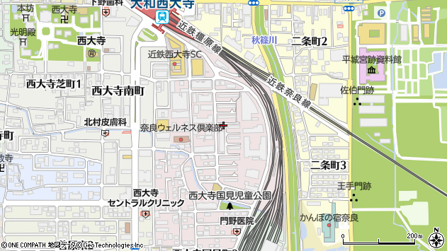 〒631-0823 奈良県奈良市西大寺国見町の地図