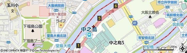 大阪府大阪市北区周辺の地図