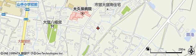 兵庫県明石市大久保町大窪小山周辺の地図