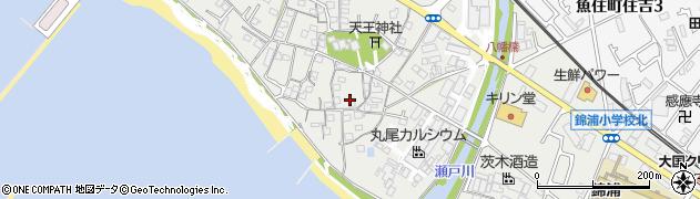 兵庫県明石市魚住町西岡天王前周辺の地図