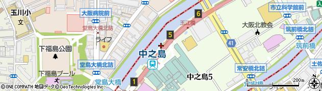 中之島デザインミュージアム de sign de周辺の地図
