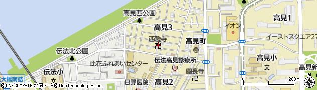 西證寺周辺の地図