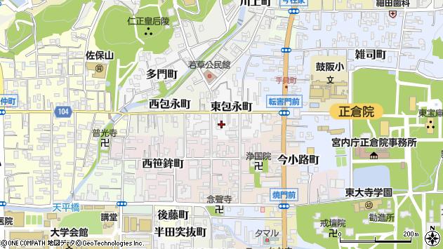 〒630-8286 奈良県奈良市東包永町の地図