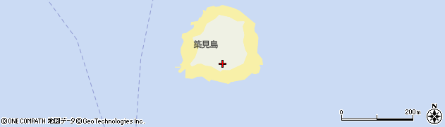 愛知県南知多町(知多郡)篠島(築見島)周辺の地図