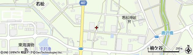 愛知県豊橋市若松町周辺の地図