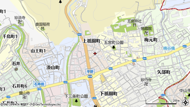 〒652-0008 兵庫県神戸市兵庫区上祇園町の地図