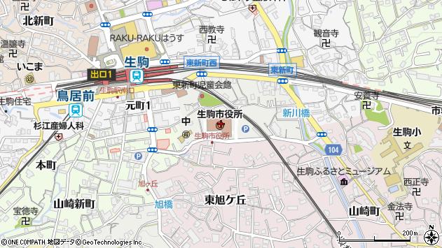 〒630-0200 奈良県生駒市(以下に掲載がない場合)の地図