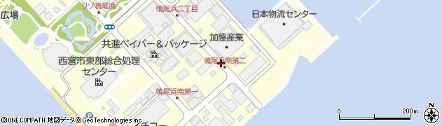 兵庫県西宮市鳴尾浜周辺の地図