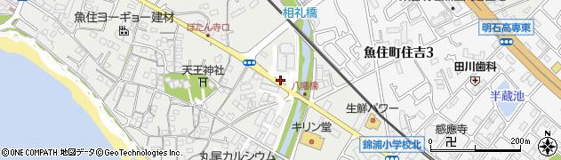 兵庫県明石市魚住町西岡辻の上周辺の地図