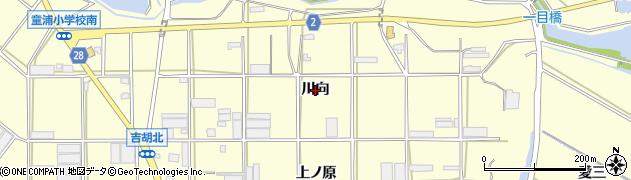 愛知県田原市浦町(川向)周辺の地図