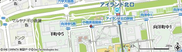 小磯美術館前周辺の地図