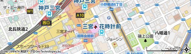 神戸国際会館(こくさいホール)周辺の地図