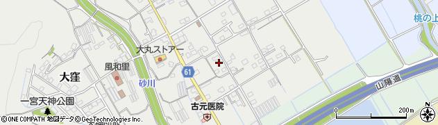 岡山県岡山市北区大窪周辺の地図