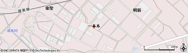 愛知県豊橋市老津町(一本木)周辺の地図