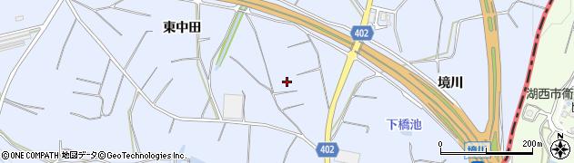 愛知県豊橋市東細谷町(東中田)周辺の地図