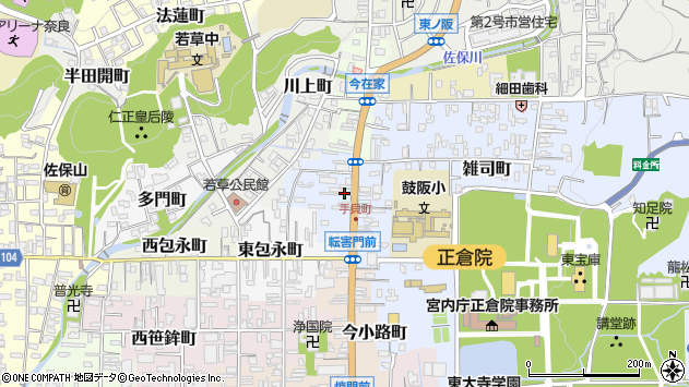 〒630-8206 奈良県奈良市手貝町の地図