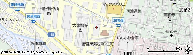 府営東鴻池第二住宅周辺の地図