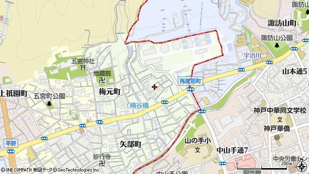 〒652-0004 兵庫県神戸市兵庫区楠谷町の地図