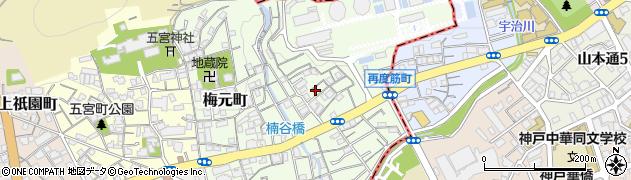 兵庫県神戸市兵庫区楠谷町周辺の地図