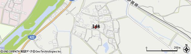 三重県伊賀市上林周辺の地図