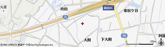 愛知県豊橋市細谷町(大附)周辺の地図