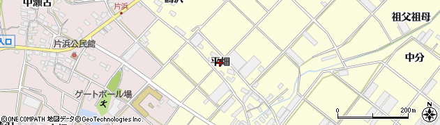 愛知県田原市浦町(平畑)周辺の地図