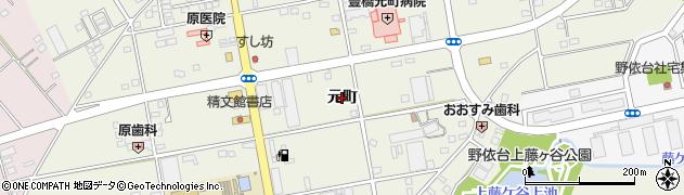 愛知県豊橋市南大清水町(元町)周辺の地図