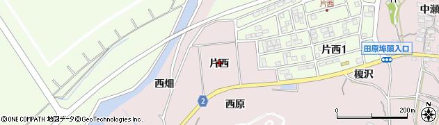 愛知県田原市片浜町(片西)周辺の地図
