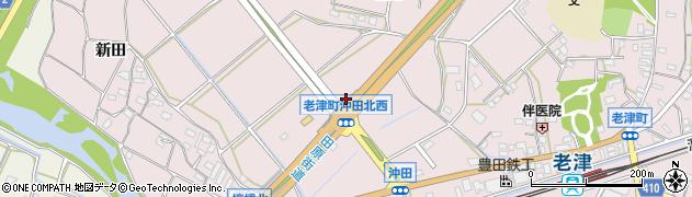 愛知県豊橋市老津町(沖田)周辺の地図
