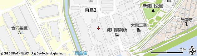 大阪府大阪市西淀川区百島周辺の地図