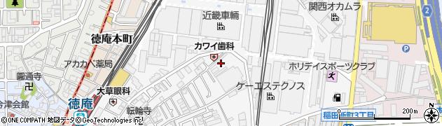 大阪府東大阪市稲田上町周辺の地図