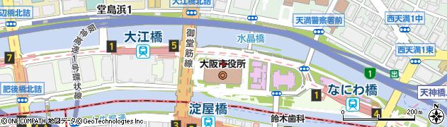 大阪市周辺の地図
