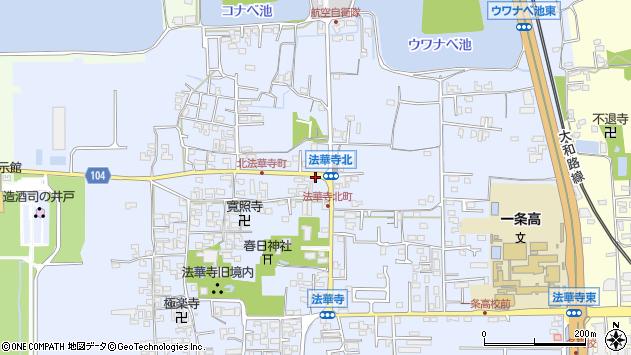 〒630-8001 奈良県奈良市法華寺町の地図