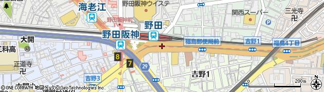 野田阪神東周辺の地図