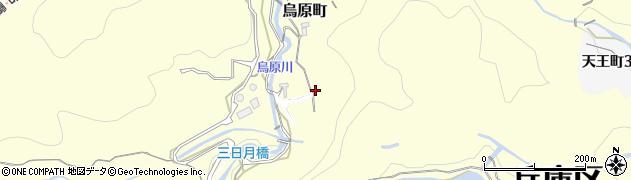 兵庫県神戸市兵庫区烏原町(地所畑)周辺の地図