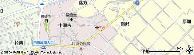 愛知県田原市片浜町(井戸瀬古)周辺の地図