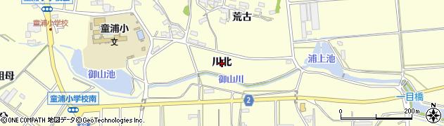 愛知県田原市浦町(川北)周辺の地図