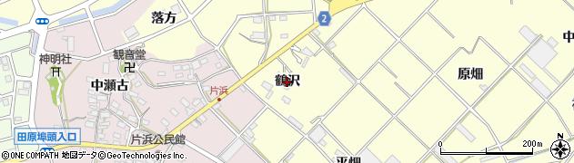 愛知県田原市浦町(鶴沢)周辺の地図