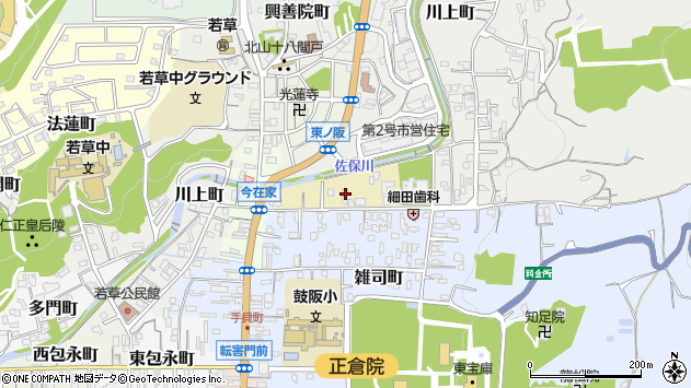 〒630-8204 奈良県奈良市北御門町の地図