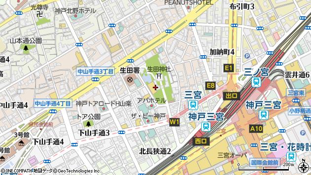 〒650-0011 兵庫県神戸市中央区下山手通の地図