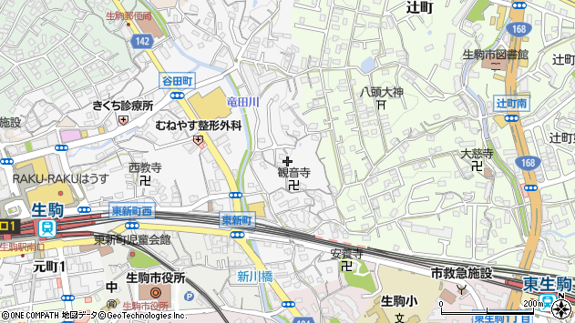 〒630-0251 奈良県生駒市谷田町の地図