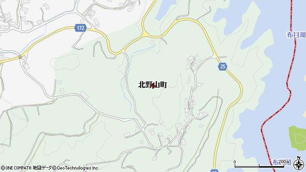 〒630-1234 奈良県奈良市北野山町の地図