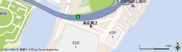 兵庫県尼崎市末広町2丁目周辺の地図