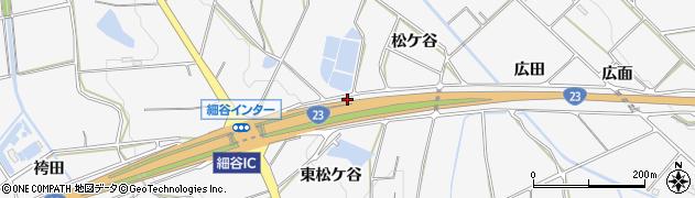 愛知県豊橋市細谷町(東松ケ谷)周辺の地図