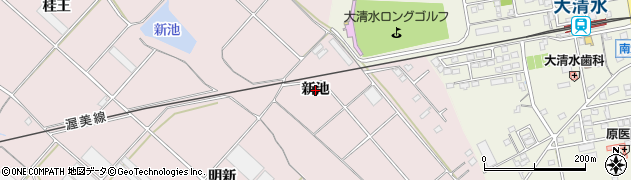 愛知県豊橋市老津町(新池)周辺の地図