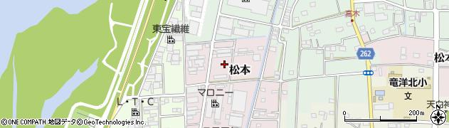 静岡県磐田市松本周辺の地図